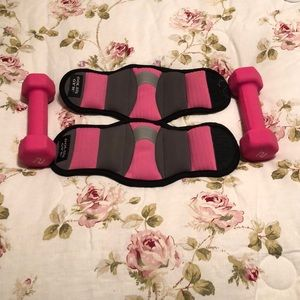 Leg weights and dumbbells